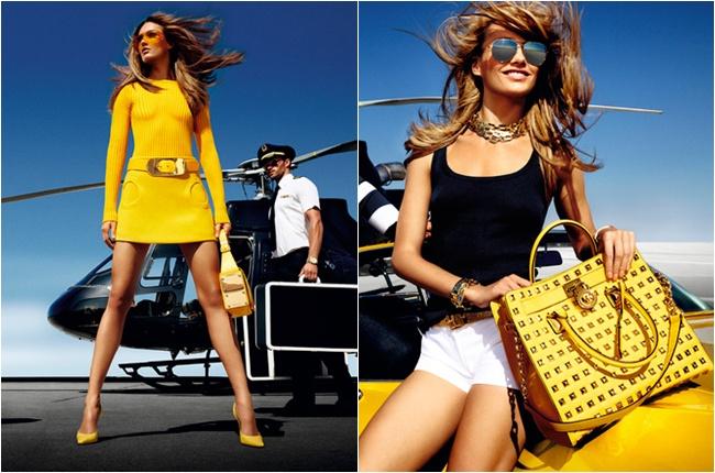 Michael Kors yellow bags and purses