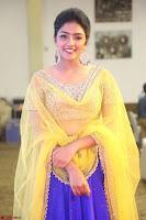 Actress Eesha in Yellow Choli Blue Ghagra at Darshakudu music launch 037.JPG