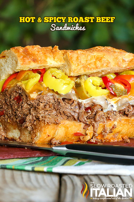 Hot and Spicy Roast Beef Sandwiches #beef #sandwich #recipe