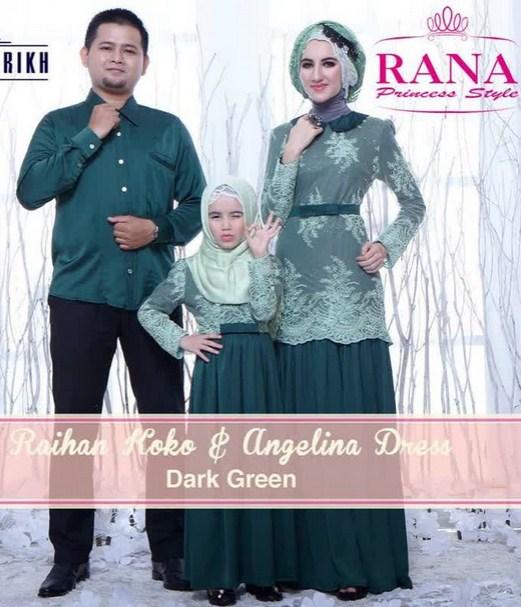 Model Baju Muslim Batik Keluarga Untuk Pesta Pernikahan Terbaru