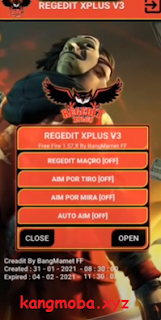 Cheat FF Regedit Xplus V3 Auto Headshot Antiban