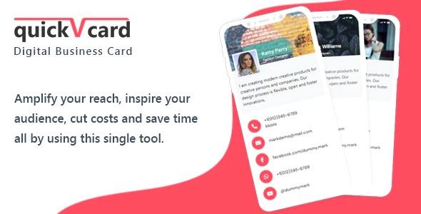 Download QuickVCard v1.3 nulled - Digital Business Card SaaS PHP Script