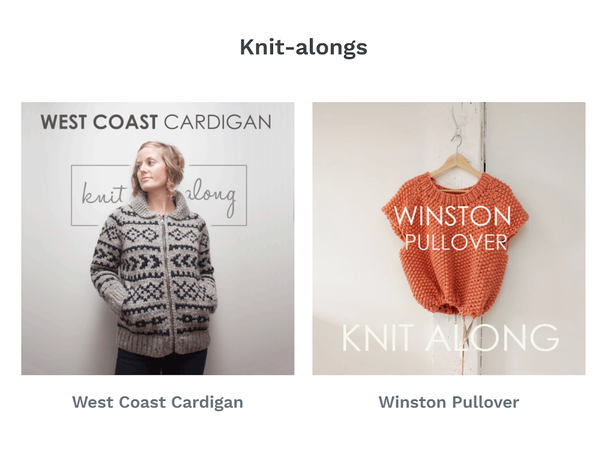 Jane Richmond / Knit-Alongs