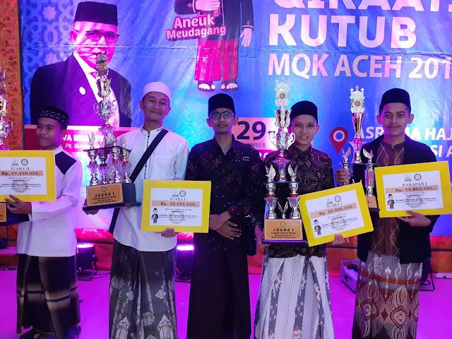 Keempat Santri MUDI Perwakilan Kabupaten Bireuen, Raih Prestasi di MQK Ke I Aceh tahun 2019