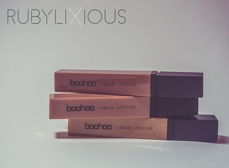 boohoo, liquid lipsticks