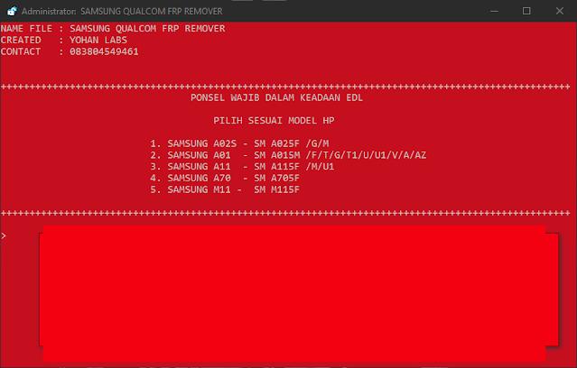 Samsung Qualcomm FRP Tool By Yohan Raw Programs