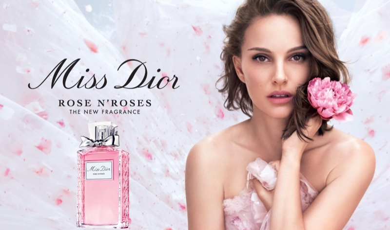 Natalie Portman poses for the Miss Dior Rose N' Roses Campaign