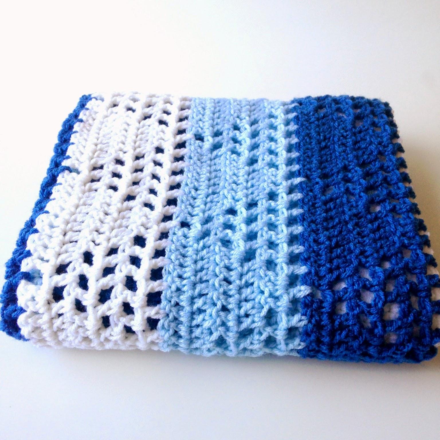 simple double crochet baby blanket