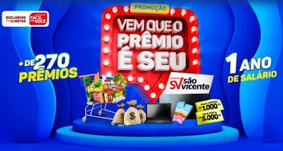 Cadastrar Promoção São Vicente 2021 Supermercados 1 Ano Salário - Prêmios e Vales-Compras