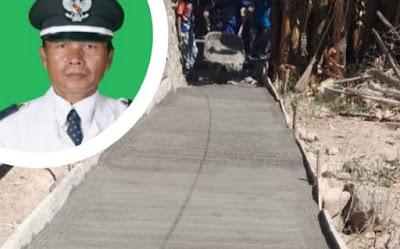 Kelurahan Kolo Gunakan Dankel Rp200 juta untuk Rabatnisasi Gang di Dua Titik