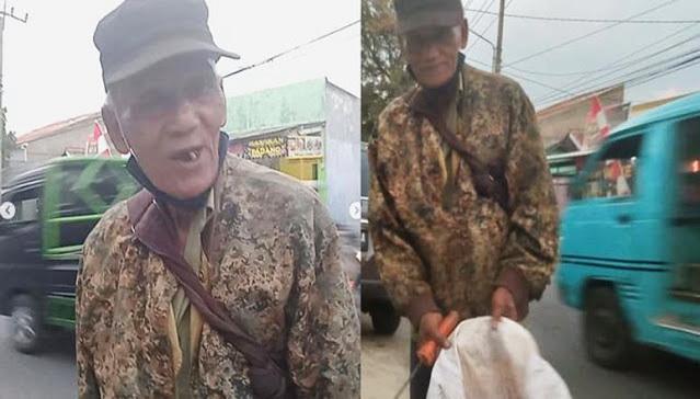 Kakek Tua Renta Pencari Rongsok Ini Semalaman Tak Tidur Demi Cari Botol Bekas