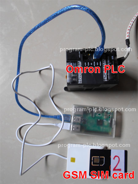 SIM Card ICCID Number Send to Omron PLC