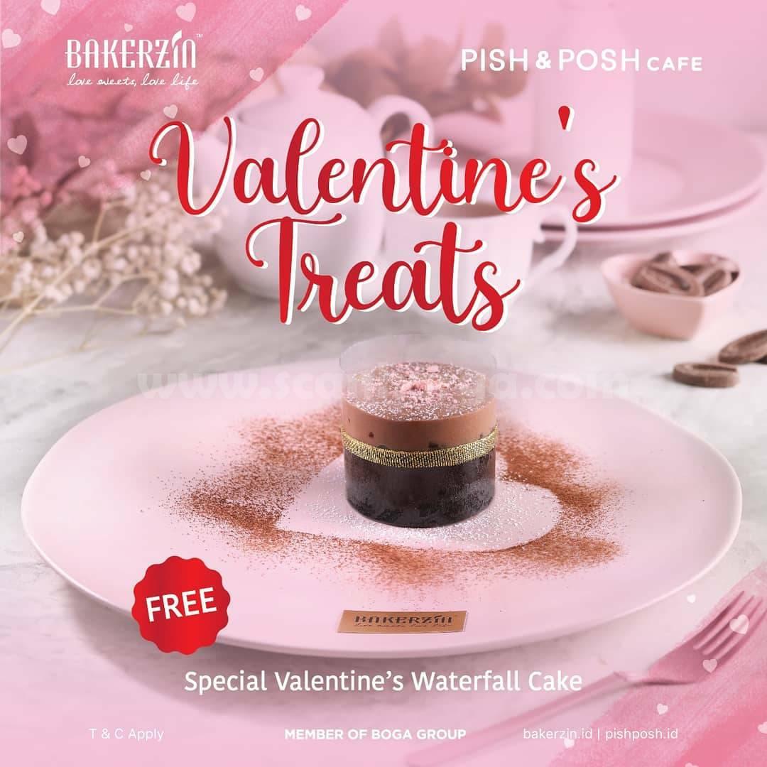 BAKERZIN Valentine's Treats Promo Free Special Waterfall Cake