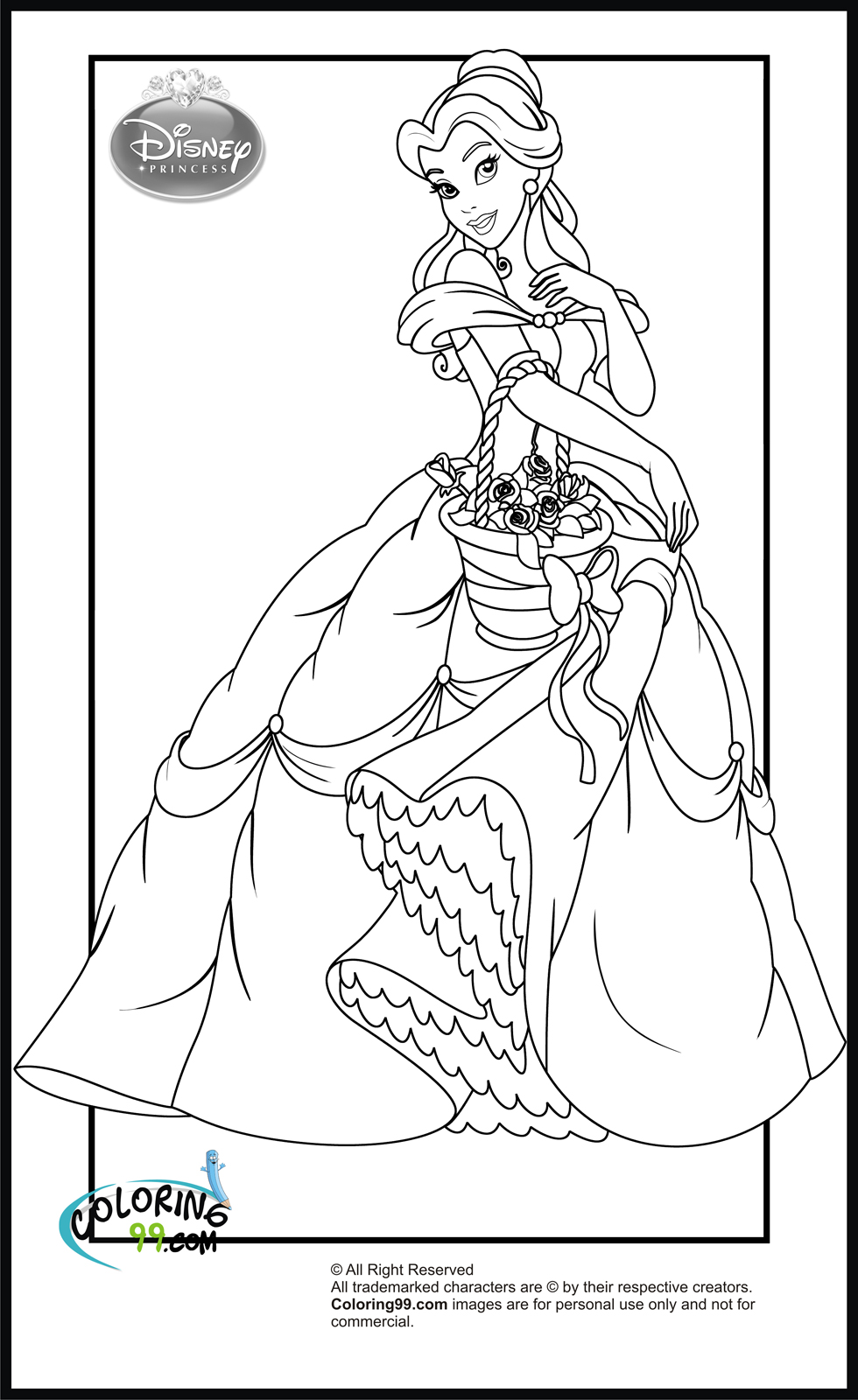 Disney Princess Coloring Pages | Minister Coloring | free printable coloring pages disney princesses