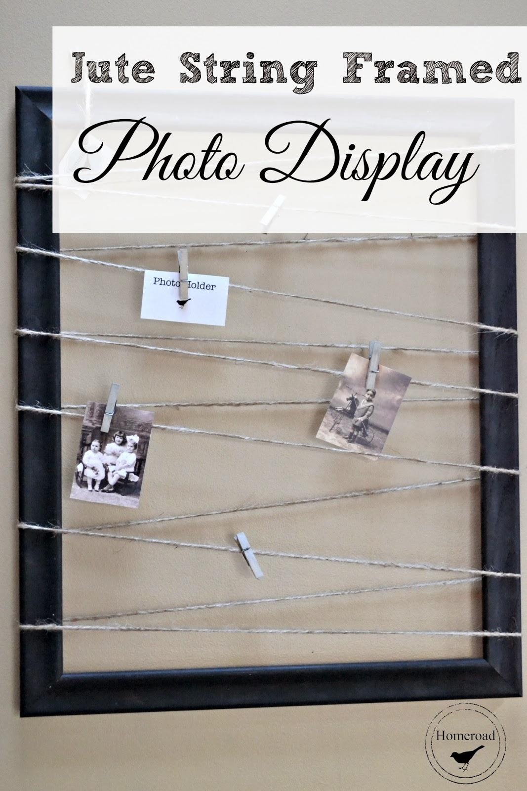 jute framed photo display www.homeroad.net