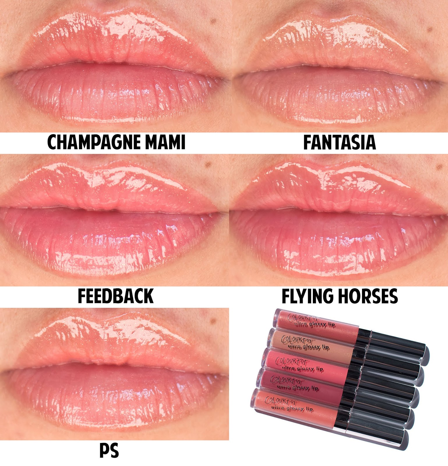 Colourpop Hi Shine Ultra Glossy Lips Swatches