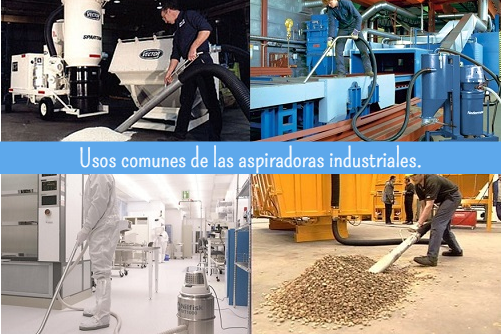 Principales usos y aplicaciones de aspiradores industriales