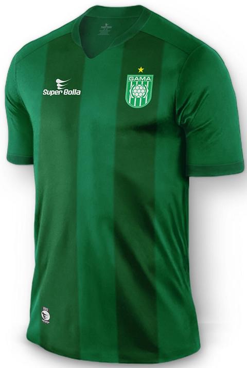 Gama apresenta novos uniformes fabricados pela Super Bolla - Show de Camisas 9824f3c8d0089