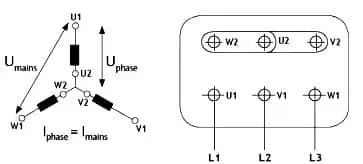 star connected motor winding
