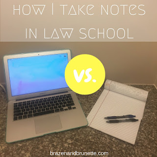 how I take notes | brazenandbrunette.com