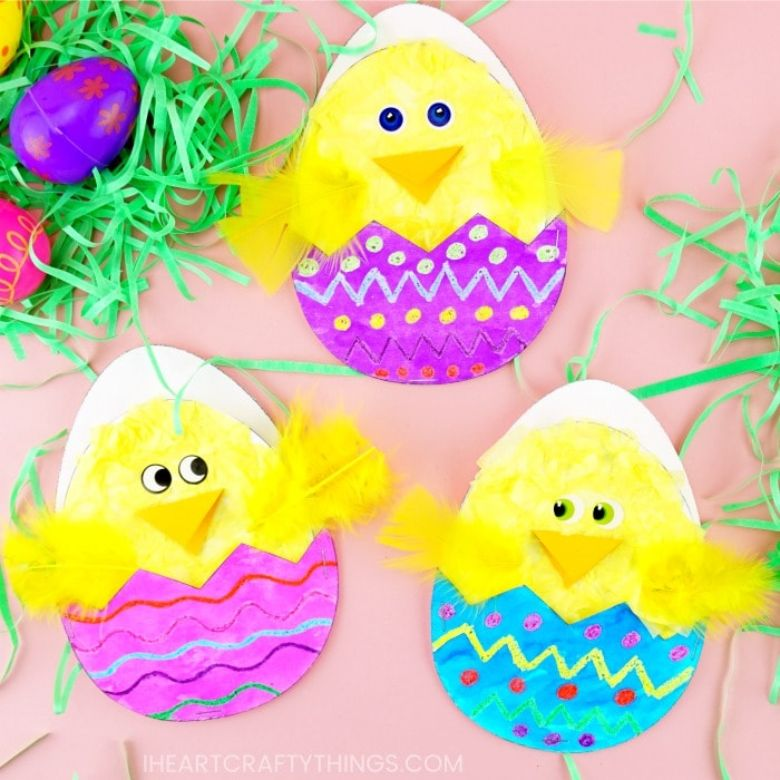 Easter crafts for preschoolers - Hatching Easter chick craft