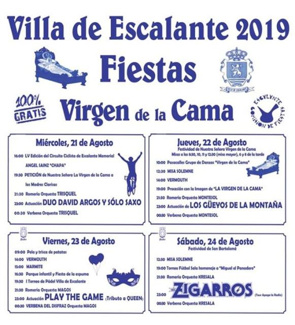 Fiestas Virgen de la Cama en Escalante 2019