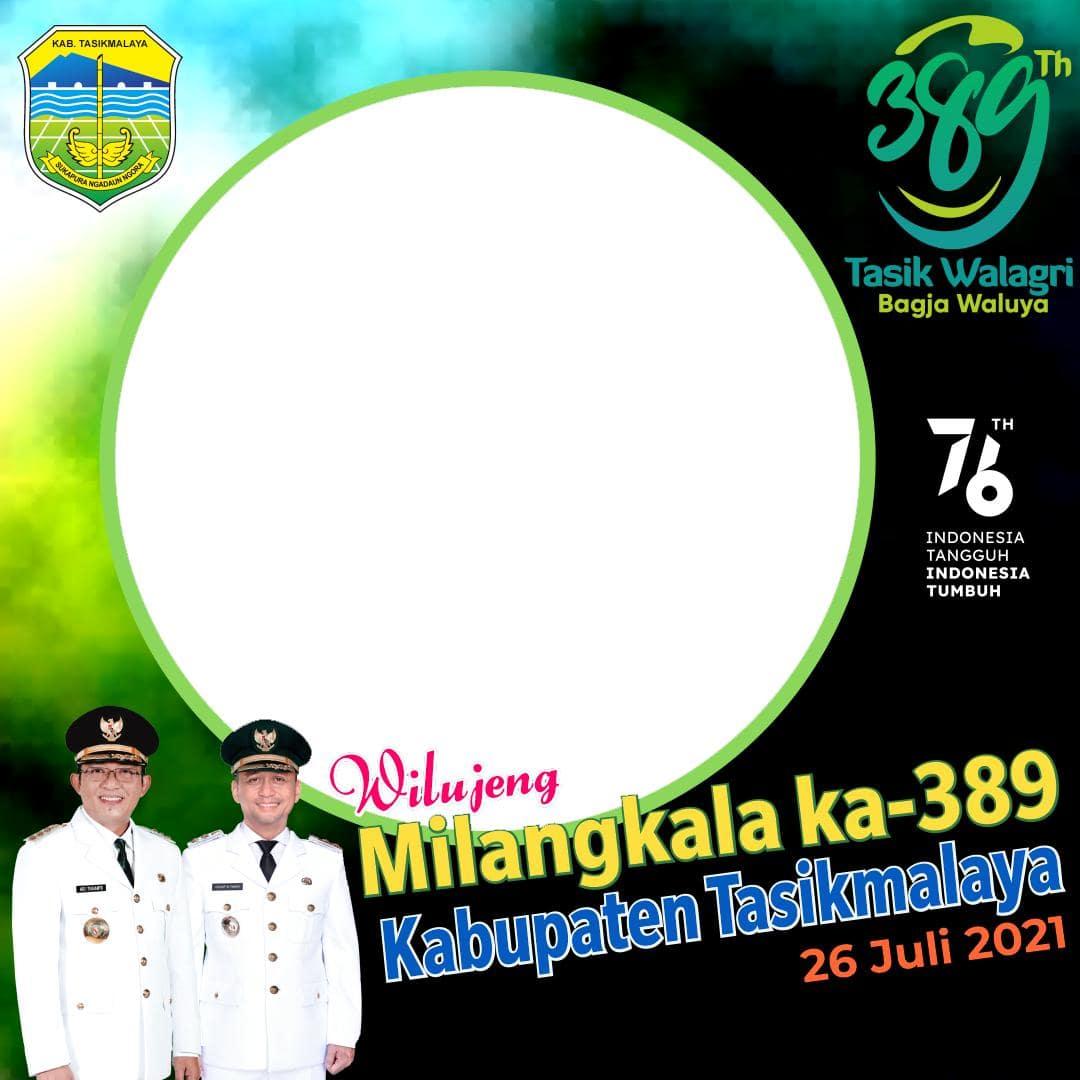Link Download Bingkai Foto Twibbon Selamat Hari Jadi Kabupaten Tasikmalaya ke-389 Tahun 2021 - Twibbonize