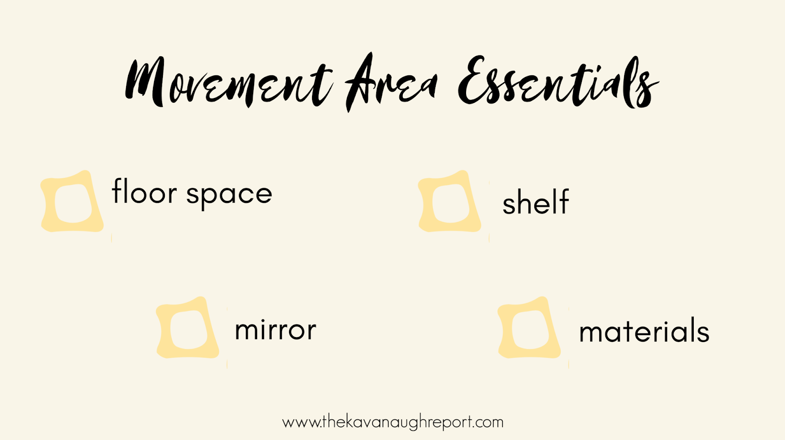 A look at our Montessori movement area and a discussion on movement area essentials.