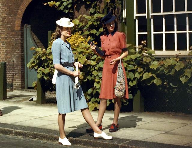 Vestidos utilitários de 1942