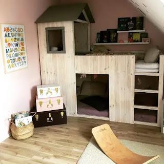 ديكورات غرف نوم اطفال مساحات صغيرة جدا 2021