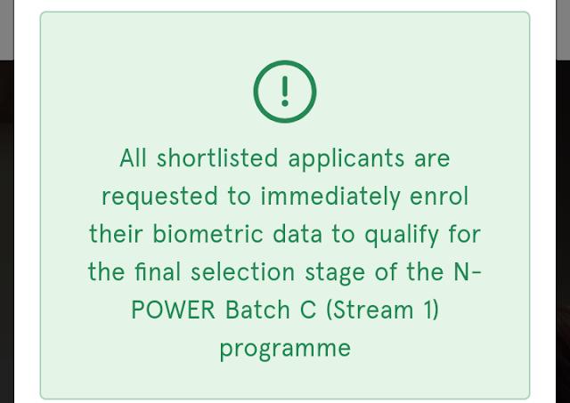Npower / NASIMS  Batch C (Stream 1) screening Update for applicants