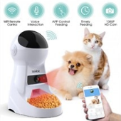 Review Iseebiz 3L Automatic Pet Feeder with Record Sound Pet Food Bowl for Medium Small Dog Cat
