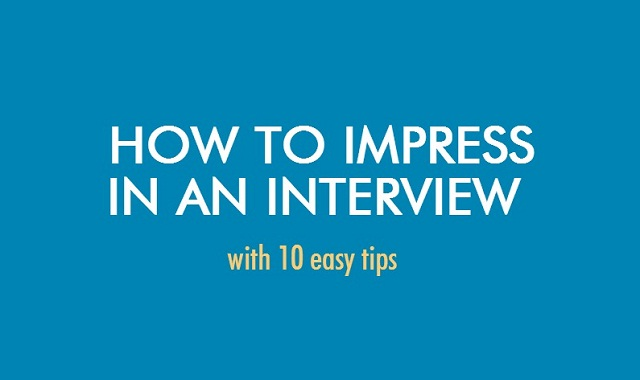 Image: How To Impress In An Interview #infographic