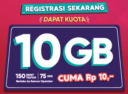 Cara Mendapatkan Kuota Internet 10GB dari Telkomsel