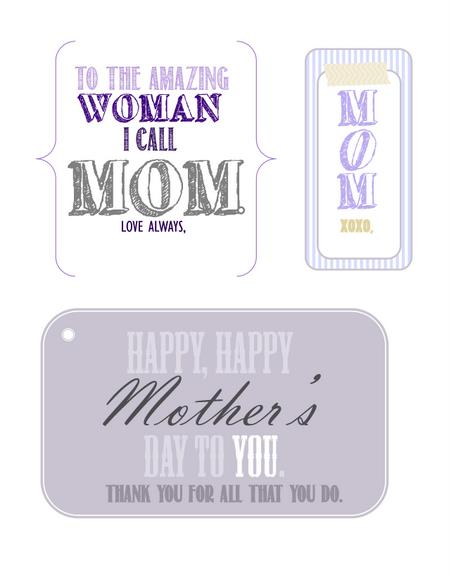 Free Printables Mother's Day Gift Tags