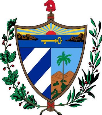 Dibujo del escudo de Cuba a colores