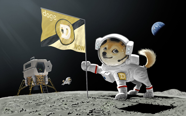 Dogecoin investors want the Shiba Inu-inspired cryptocurrency to head to the Moon...both figuratively and literally!