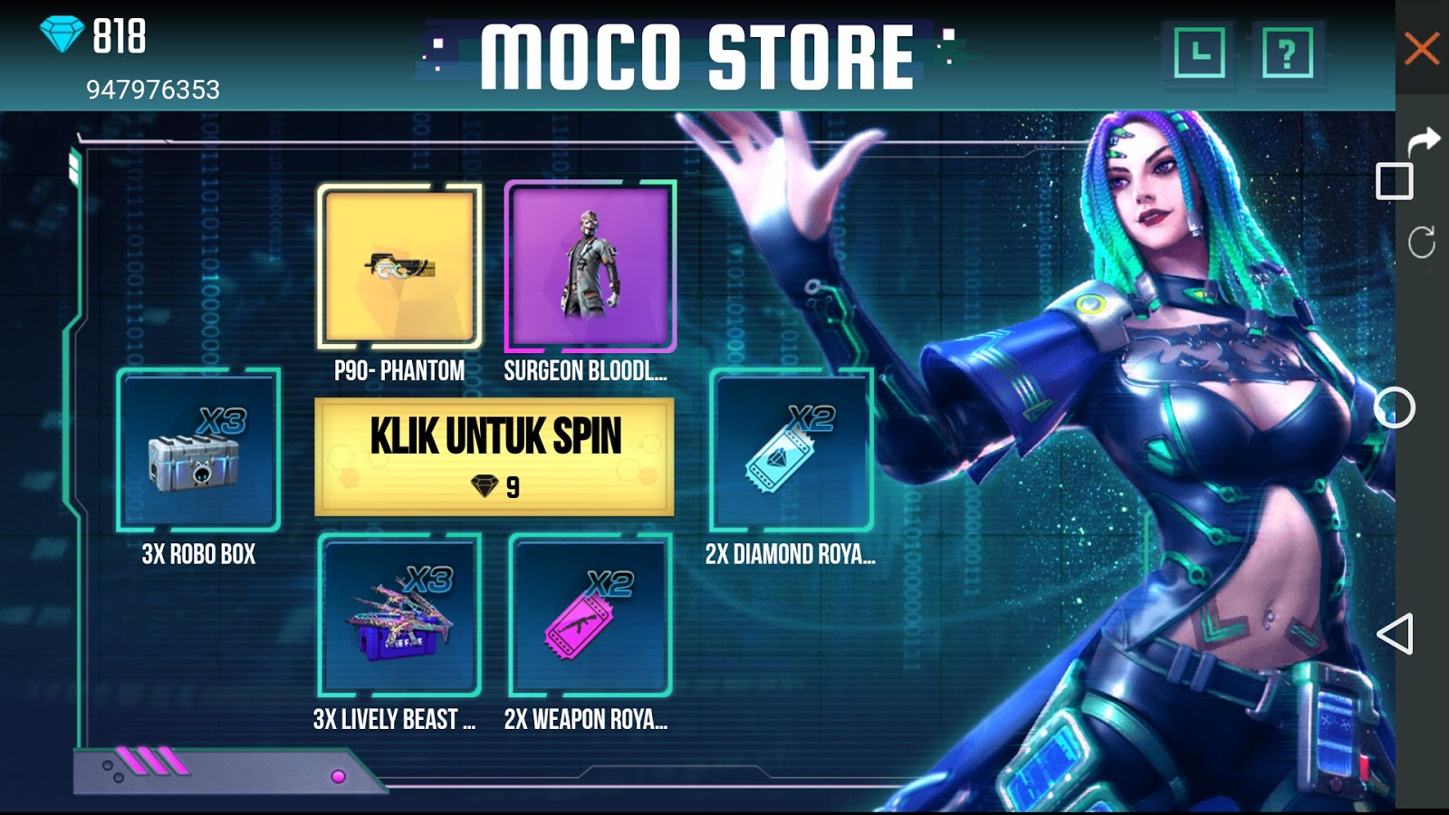 event moco store 9 diamonds