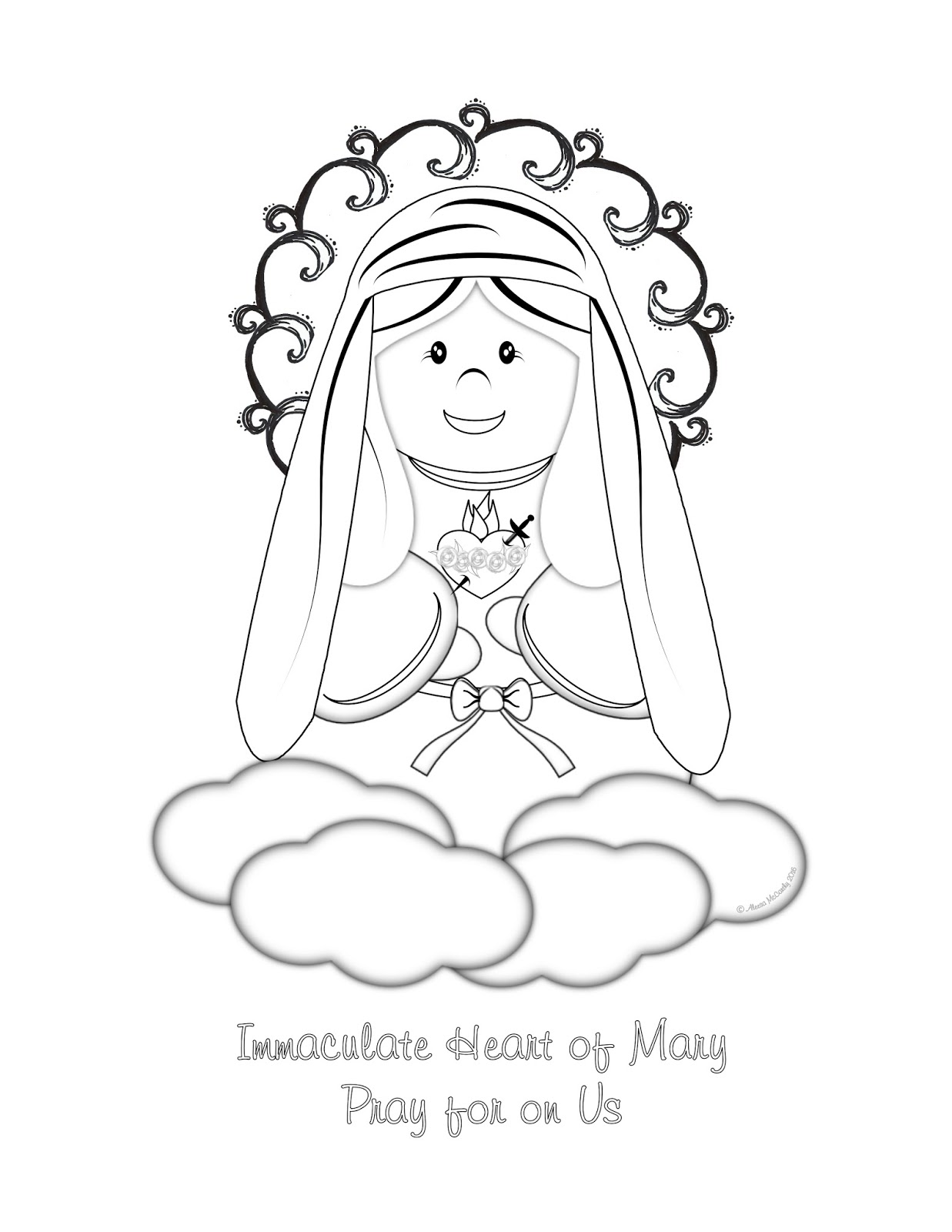 Free Kids Catholic Coloring Pages, Download Free Clip Art, Free ... | 1600x1237