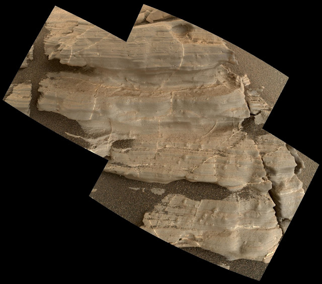 Tiny crystal shapes get close look from Mars rover