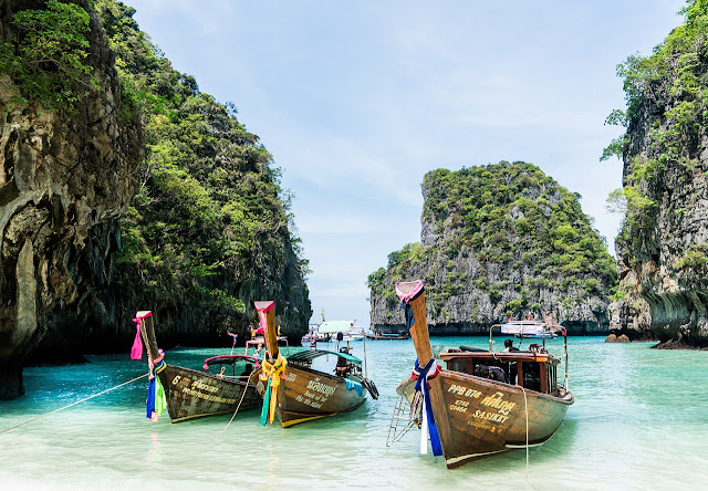 Picture of some boats in Phuket.
