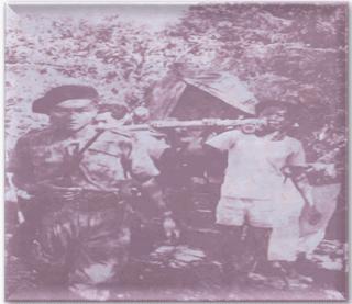 Jendral Sudirman di atas tandu