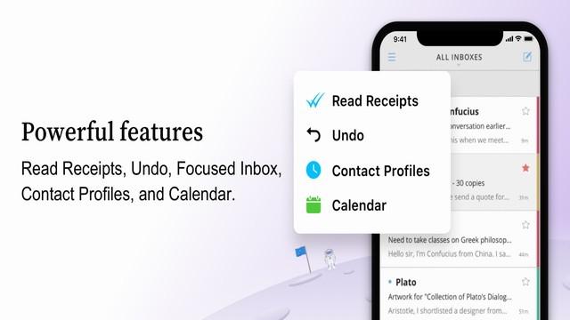 أفضل تطبيق للحصول على بريد إلكتروني للايفون