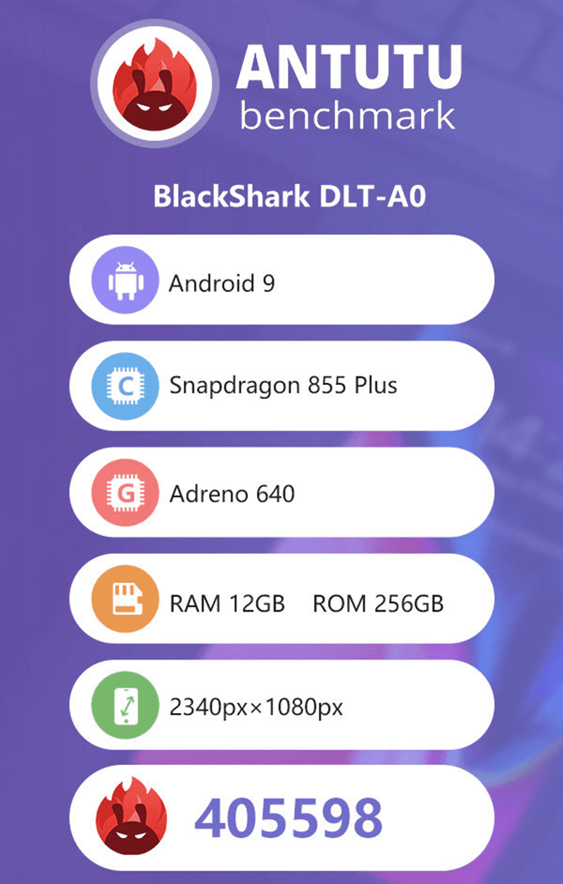 Upcoming Black Shark 2 Pro scored the highest on AnTuTu
