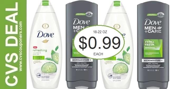 CVS Dove Body Wash Coupon Deal 7/18-7/24