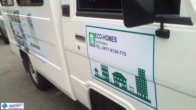 Custom Vinyl Graphics (Side View) - Eco-Homes