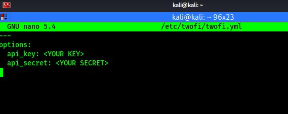 twofi config file default