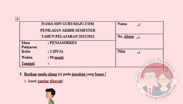 Soal UAS / PAS PJOK Kelas 2 Semester 1 K13