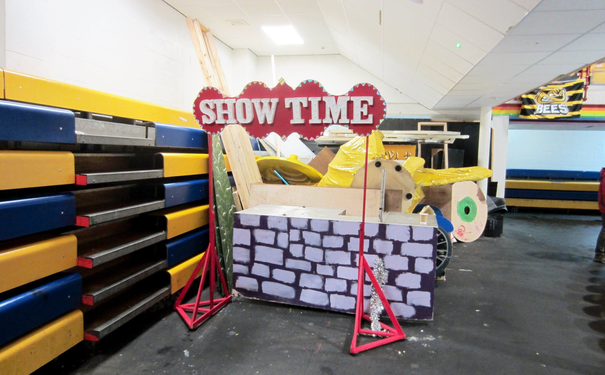 Props from the ice dancing shows at Bracknell Ice Rink