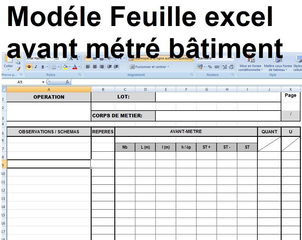 Devis quantitatif estimatif maison individuelle xls for Devis estimatif construction maison
